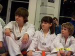 jung kim taekwondo students